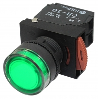 Green Lighted Maintained Push Button Switches: NLB22-L10GA 24V AC/DC