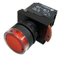 Red Lighted Maintained Push Button Switches: NLB22-L10RE 120V AC/DC