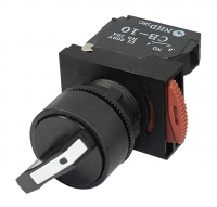 Selector Switch: 2 Position, Short Handle, 1 N/O Contact Block: NSS22-S210B